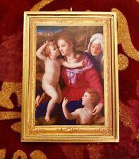 Virgin & Child W/St.Elizabeth & St.John Bronzino Christmas Ornament/DHM/Wall Art