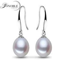 925 Sterling Silver & Freshwater Natural Pearl Drop Earrings Stud Hoop Jewelry
