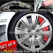 Universal Set di 4 AUTO rifiniture ruota Hub copre Crepa resistente, pieghevole Clip LV