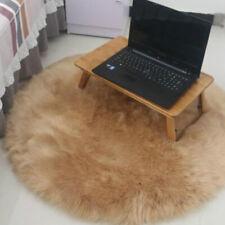 Fake Sheepskin Shaggy Area Rug Carpet Floor Mat Seat Cushion 40/60/90cm Camel