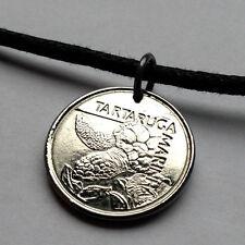 Brazil 500 Cruzeiros pendant Brazilian TURTLE necklace cute Loggerhead n000702