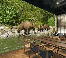 3D Big Black Bear 995 WallPaper Murals Wall Print Decal Wall Deco AJ WALLPAPER