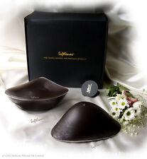 Softleaves Silicone Breast Forms in Dark Skin Black Flesh Color n Adhesive Tape