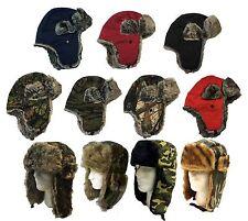 Winter Camoflage Solid Trooper Ski Hat Men's Faux Fur Hat cap-Soft Warm Aviator