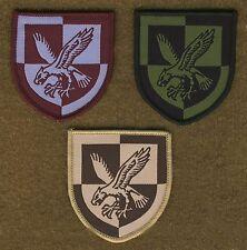 BRITISH ARMY SURPLUS 16th AIR ASSAULT BRIGADE WOVEN PATCH,MAROON,DESERT,OG,TRF