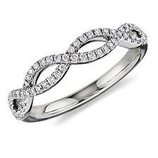 White Gold 1/2ct Infinity Pave Diamond Anniversary Ring (G-H, I1-I2)