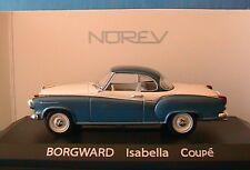 BORGWARD ISABELLA COUPE BLEU & BLANC NOREV 820016 1/43
