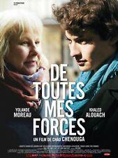 DE TOUTES MES FORCES Affiche Cinéma Originale French Movie Poster Chad Chenouga