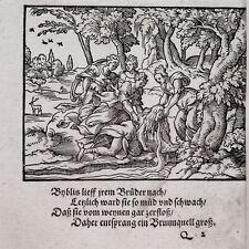 Virgil Solis Byblis Fontana erotico Ovidio Chalkidiki legno sezione 1563