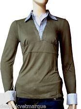 DDP chemise polo  2 en 1 kaki femme