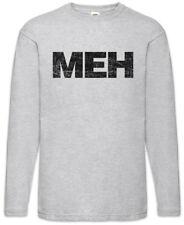 Meh Long Sleeve T-Shirt Fun Geek Nerd Computer Scientist Gamer No Social