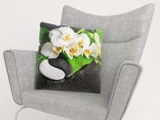 "Kissenbezug Kissenbezüge ""Orchide"" Fotodruck Kissenhülle 40x40 50x50 50x70 80x80"