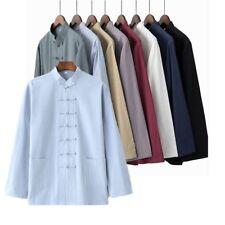 homme lin et coton manteau chemise Vestes Chinois Kung Fu traditionnel