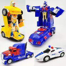 Bump & Go Light Up LED Autobot Transformer Robot Car Truck Toy Action Sound
