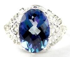• SR260, 7 ct Neptune Garden Topaz, 925 Sterling Silver Ladies Ring -Handmade
