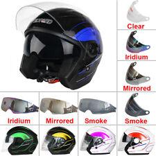 LEOPARD LEO-608 Open Face Helmet Motorbike Helmet Graphic Outer Inner Sun Visor