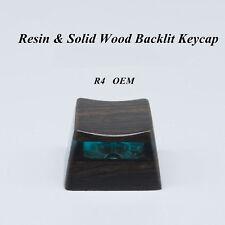 Pure Handmade Resin + Solid Wood Backlit Keycap Key Caps For Mechanical Keyboard
