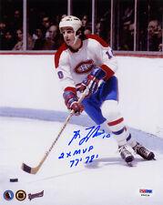 Guy Lafleur SIGNED 8x10 Photo Montreal Canadiens + MVP PSA/DNA AUTOGRAPHED