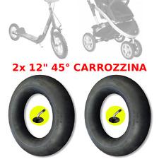 "2x 12"" 45° CAMERA D'ARIA CARROZZINA PASSEGGINO MONOPATTINO BICI BIMBO BAMBINA"