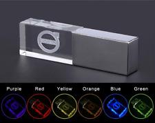 USB Car Logo Volvo Flash Drive 2.0 Metal Stick 4/8/16/32/64 GB Colored LED Light