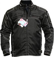 German Wear, Motorradjacke textilien Motorrad-Jacke Kombigeeignet Schwarz