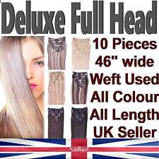 Deluxe Full Head Clip in Hair Extensions Japanese Kanekalon Fibre