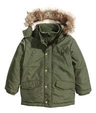 H&M Winterjacke / Wattierter Parka Gr. 92,98,104,110,116,122,128-140 khaki*NEU!*