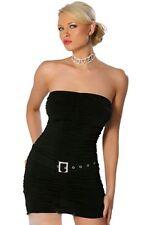 sexy robe cocktail noir robe de soirée sans bretelles noir S M 36 38