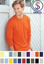 Hanes 5186- Long Sleeve Beefy-T shirt  100% Ringspun Cotton S-3XL