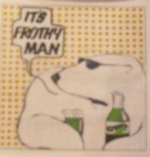 Retro coaster - Cresta - It's FROTHY Man - Polar Bear - 70s advert - Kids TV AD