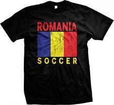 Romania Flag Soccer Fotbal Rumania Mandrie Romanian Pride Mens T-shirt