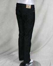 True Religion Jeans women's JOHNNY micro corduroy pants black WCB502K32