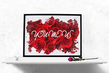 Vous & moi = nous Roses Poster Wall Art A4 Femmes Fashion Aquarelle couples -1104