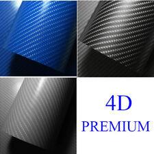 4D Carbon Fiber Texture Matte Black Vinyl Car Wrap Sticker Decal Film Sheet