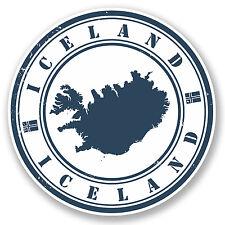 2 X Islandia pegatina de vinilo Ipad Laptop Auto Moto Viaje Equipaje Tag Regalo # 4510