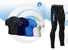 Completo Coolbase Termico Da Uomo Maglia Manica Corta E Leggings