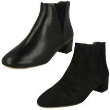 Ladies Clarks Low Heel Ankle Boots 'Orabella Ruby'