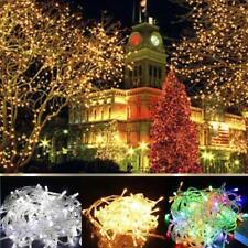 20-100 Fée Batterie Guirlande LED Copper Wire Light Wedding Site Garden Xmas EH
