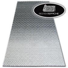 Echte Modischen Teppiche Billig Modern Teppich LISBOA Structural Schwarz Grau