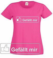 """Facebook Fan T-Shirt """"Gefällt mir"""" Ladyshirt viele Farben möglich."""