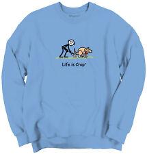 Life Is Crap Pooper Scooper Good Life Funny Shirts Gift Ideas Sweatshirt