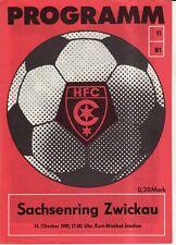 OL 81/82 HFC Chemie - BSG Sachsenring Zwickau