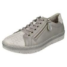 Mujer Remonte D5800 PLATA/PLATINO Zapatos Casual Con Cordones
