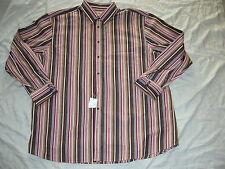 VAN LAACK rivara Camisa marrón de rayas talla 50/4xl NUEVO