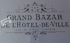 Grand bazar shabby chic Mylar stencil for art craft spray cake and Home decor
