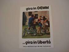advertising Pubblicità 1973 CICLOMOTORI DEMM