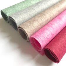 Heathered Felt - 50% Wool Blend Felt - 12 inch / 30cm Squares - Pink Green Grey