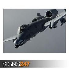 A-10 THUNDERBOLT II (AC236) ARMY POSTER - Photo Poster Print Art A0 A1 A2 A3 A4