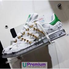 Adidas Stan Smith Verde Borchiate Oro Vintage Scarpe ORIGINALI 100% ® ITALIA 201