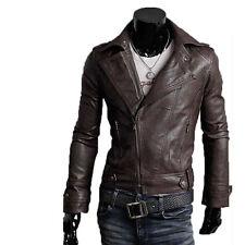 Giacca Giubbotto in Pelle Uomo Men Leather Jacket Veste Blouson Homme Cuir N7q
